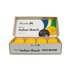 Henselite Indoor Carpet Bowls - 3 7/8 Half Set - 8 Yellow