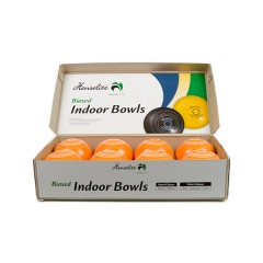 Henselite Indoor Carpet Bowls - 3 7/8 Half Set - 8 Orange