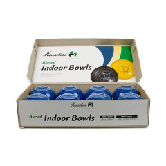 Henselite Indoor Carpet Bowls - 3 7/8 Half Set - 8 Blue